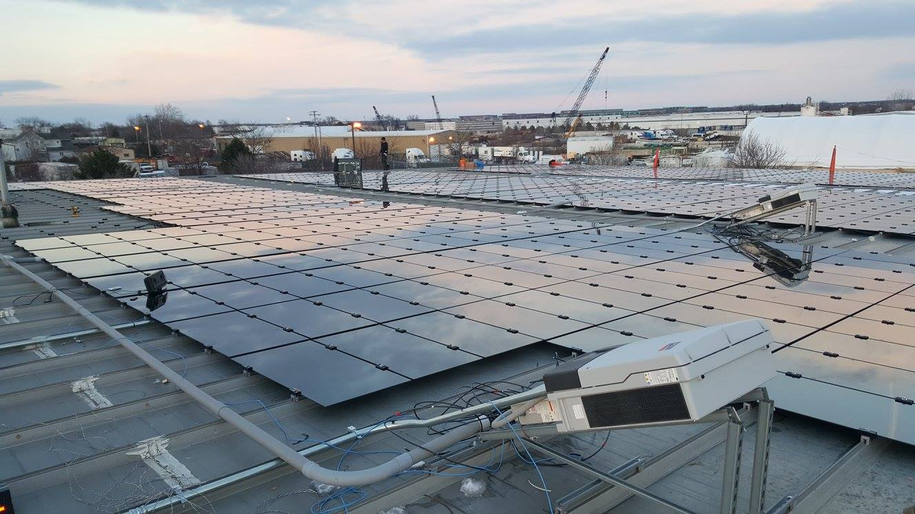 Commercial Solar Installation rooftop PV