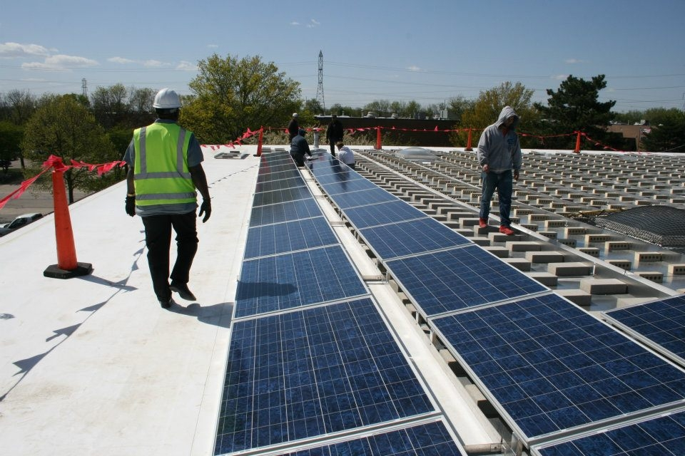 Light manufacturing Commercial Solar Installation rooftop PV