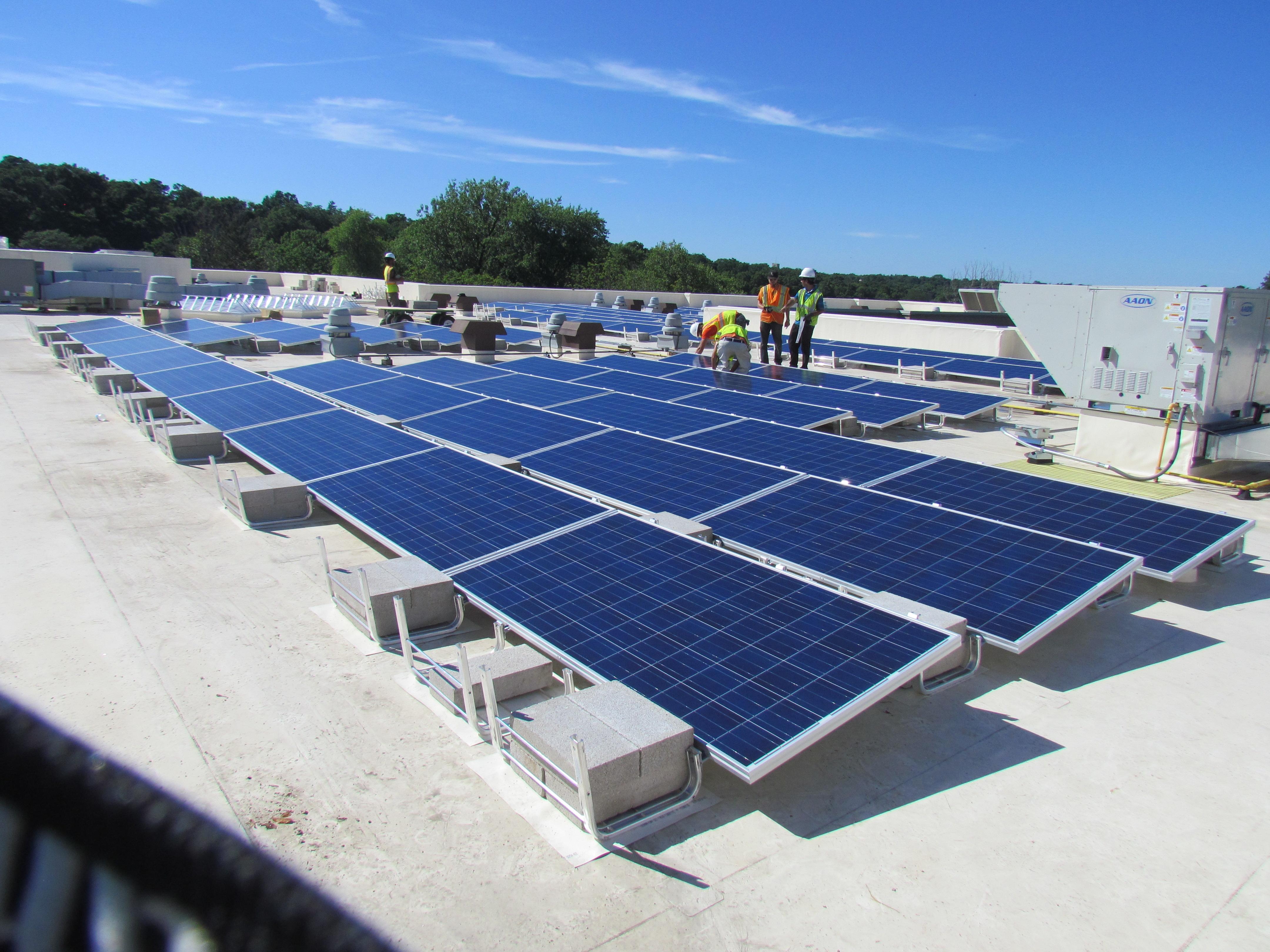Solar panel installation, commercial