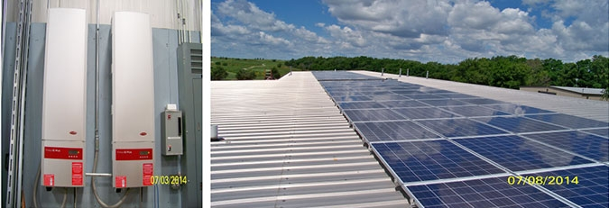 lockport park district solar panel installation on roof from wcp