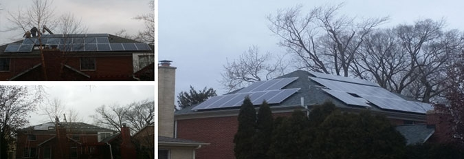 roof mounted solar energy system installed on a Lombard Home in Illinois by WCP Solar