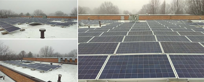 wcp solar installation for north central college
