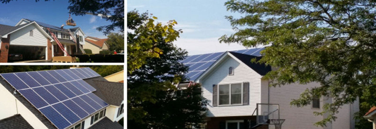 Rooftop solar energy system installed on a Boling Brook Home in Illinois by WCP Solar