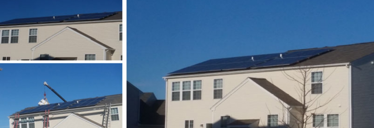 Rooftop solar energy system installed on a Carpenterville Home in Illinois by WCP Solar