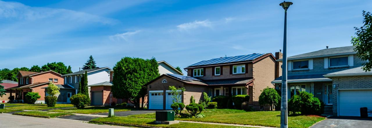 Solar Panels on Homes in Neighborhood