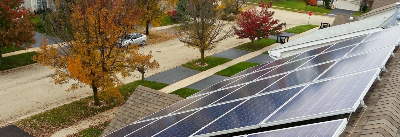 Residential rooftop pv solar panels system