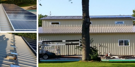 Rooftop solar energy system installed on a Chadwick Home in Illinois by WCP Solar