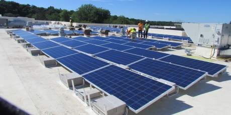 Solar panel installation, commercial