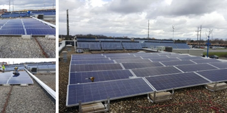 solar installation with wcp naperville car wash