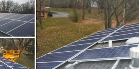 roof mounted solar energy system installed on a Spring Grove Home in Illinois by WCP Solar