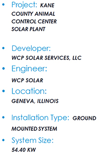 Kane County Solar System Details Specs
