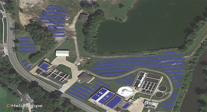 Solar installation at Plano Wastewater plant